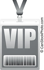 VIP Pass - detailed illustration of a plastic VIP tag