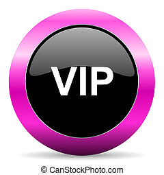 vip pink glossy icon - web glossy pushbutton