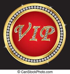 Vip protection shield, golden with