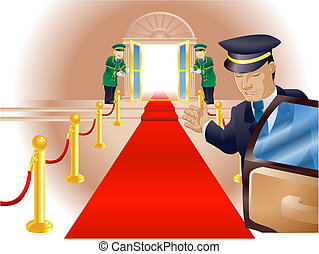 VIP Red Carpet Treatment - Illustration, point of view of...