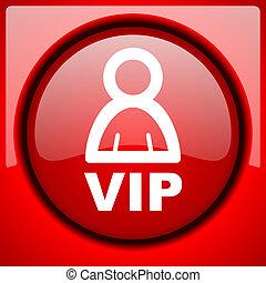 vip red icon plastic glossy button