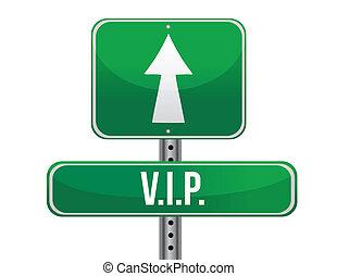 vip road sign illustration design