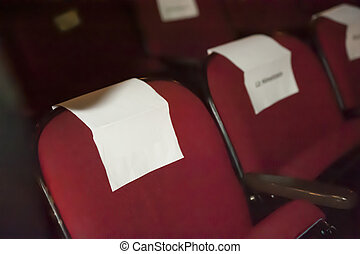 V.I.P. seats - celebrity seating with copy space for text