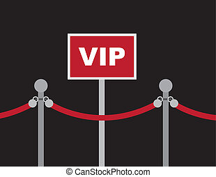 VIP Sign Red Rope