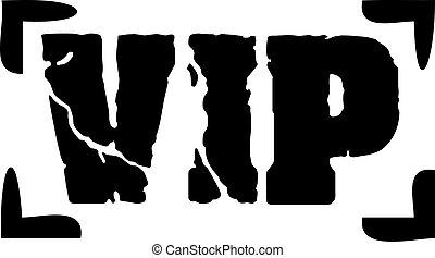 VIP stamp grunge