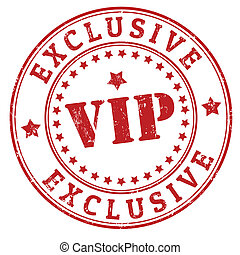 Grunge exclusive vip rubber stamp, vector illustration