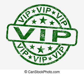 VIP Stamp Showing Celebrity Or Millionaire - VIP Stamp Shows...