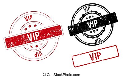 vip stamp. vip sign. vip label set