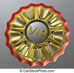 VIP star - Golden VIP nine legged star with brass, gold, ...