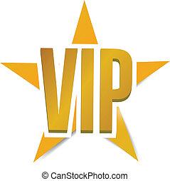 vip star illustration design