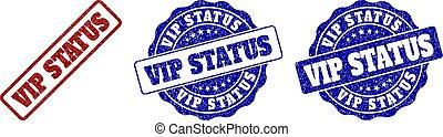 VIP STATUS Grunge Stamp Seals