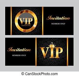 vip, tarjeta, ilustración, miembros, vector