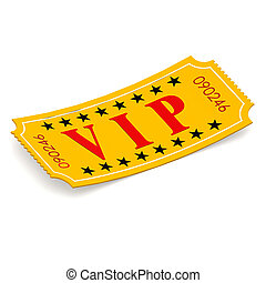 VIP ticket on white background image with hi-res rendered...