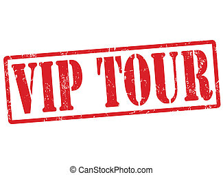 Vip tour stamp - Vip tour grunge rubber stamp on white, ...