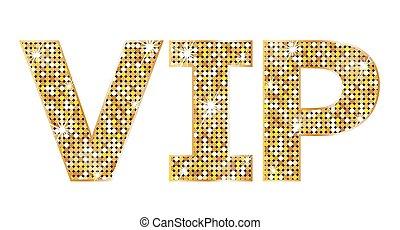 vip, très, -, personne, icône, important