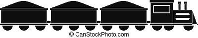 VIP train icon, simple style.