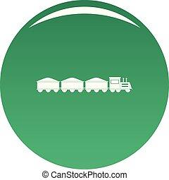 VIP train icon vector green