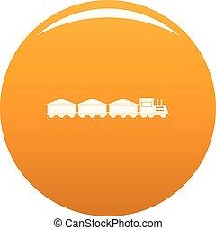 VIP train icon vector orange