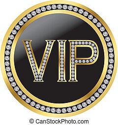 vip, vecteur, diamants
