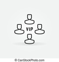 VIP vector concept linear icon