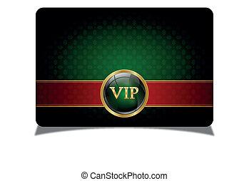 vip, verde, tarjeta