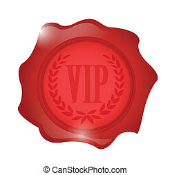 vip wax seal illustration design