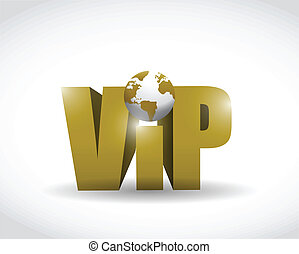 vip world illustration design