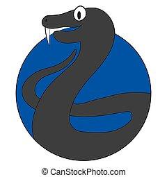 Viper cartoon icon flat app