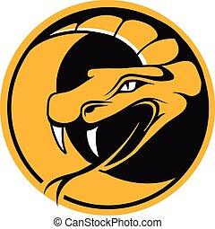 Viper round emblem, vector illustration