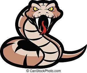 Viper snake mascot - Clipart picture of a viper snake...