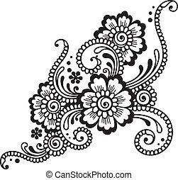 virág, díszítés