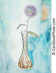 virág, festmény