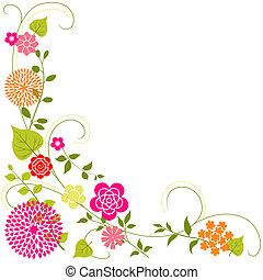 virág, háttér