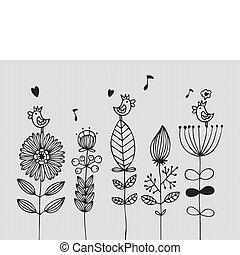 virág, kártya