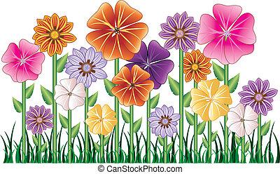 virág kert