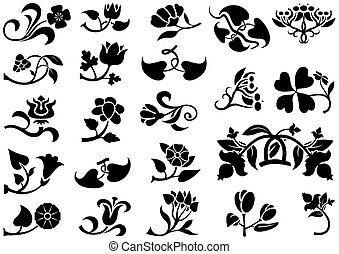 virág, pictograms