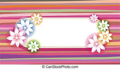 virág, transzparens