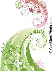 virágos, örvény, elvont