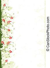 virágos, örvény, háttér