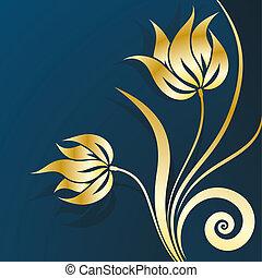 virágos, arany