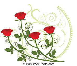 virágos, díszítés