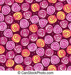 virágos, elvont, seamless, háttér