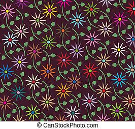 virágos, elvont, vektor, háttér