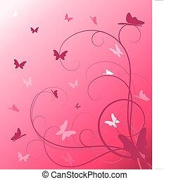 virágos, eredet, elvont, háttér