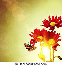 virágos, eredet