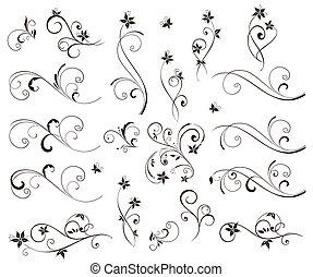 virágos, esküvő, stencils