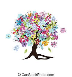 virágos, fa