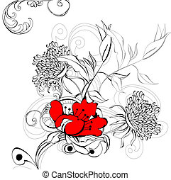virágos, háttér