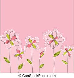 virágos, kártya