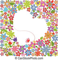 virágos, köszönés kártya